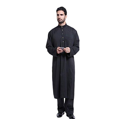 Meijunter Men Muslim Arabic Style Clothing Thobe Robe Dress Costumes Garment#805