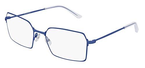 Balenciaga BB0033O Eyeglasses 004 Blue-Blue 56mm