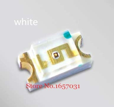 200PCS SMD 1206 White Led 1206 SMD led Cool White Super Bright LED Diode Light 5000-8000k 200-300mcd 3.0-3.6v