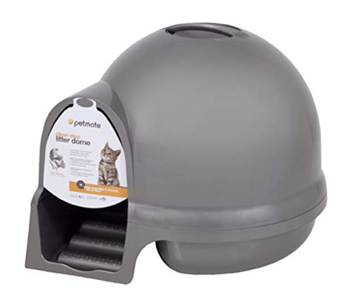 Petmate Booda Dome Clean Step Cat Litter Box 3 Colors, Titanium