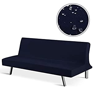 TAOCOCO Futon Slipcover, Stretch Water Resistance Futon Couch Covers Armless Futon Sofa Cover Furniture Protector…