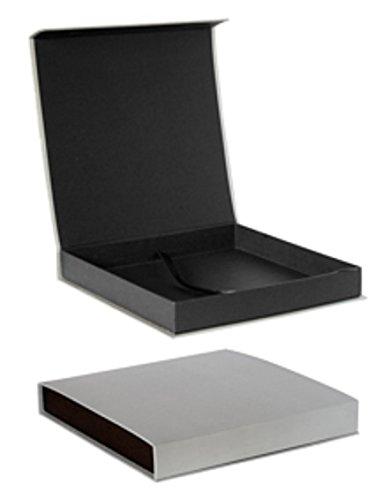 Caja para álbum 30x30 cartón rigido gris con cierre magnetico