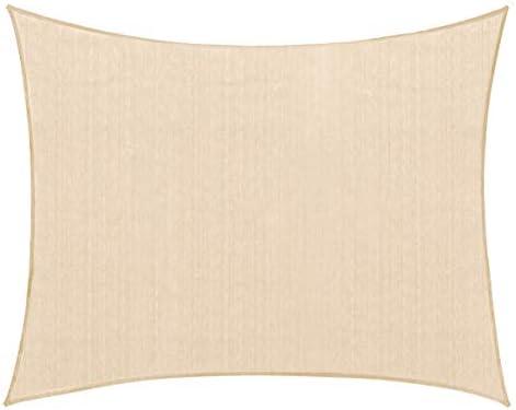 PHI VILLA Sun Shade Sail Square 12 x12 Wheat Patio Canopy Cover – UV Bloack – for Patio, Garden, Yard, Pergola