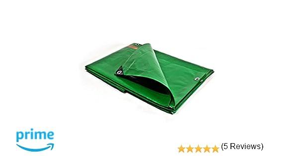 Bâches Direct PR0815 - Lona de protección, plástico, impermeable para exterior, tejados y obras, 6 x 10 m y 250 g/m²: Amazon.es: Jardín