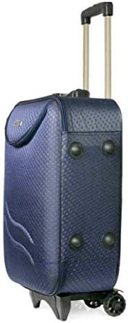A-B Enterprises AB-Enterprises Polyester 20 inch Cabin Luggage 3 Wheels Softsided Travel Trolley Bag/Suitcase/Luggage Bag (Blue}