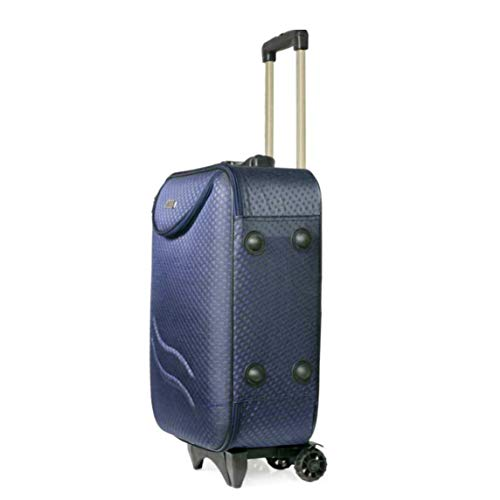 A-B Enterprises Polyester 20 Inches Soft Trolley Bag (Trolleybag6_Blue)