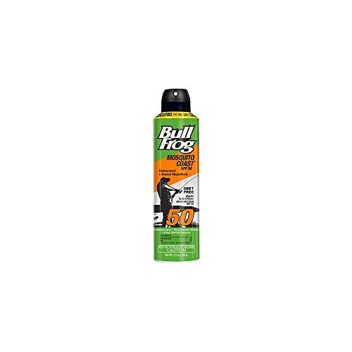 BullFrog Mosquito Coast, 2 in 1 Sunscreen/Insect Repellent, Water Resistant, 8 Hour Protection, Continuous Spray, DEET…