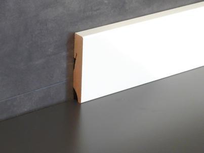 Fußbodenleiste cube designsockelleiste fußbodenleiste 80 mm 8 m white lacquered