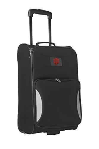 Denco Sports Luggage NCAA Indiana University 21'' Black Steadfast Upright by Denco Sports Luggage by Denco Sports Luggage