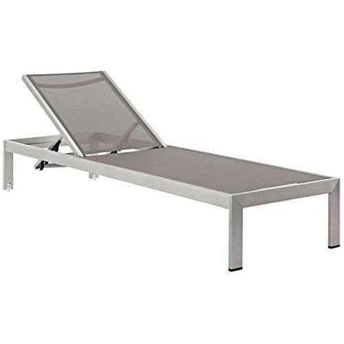 Cheap  Modern Contemporary Urban Design Outdoor Patio Balcony Chaise Lounge Chair, Grey Gray,..
