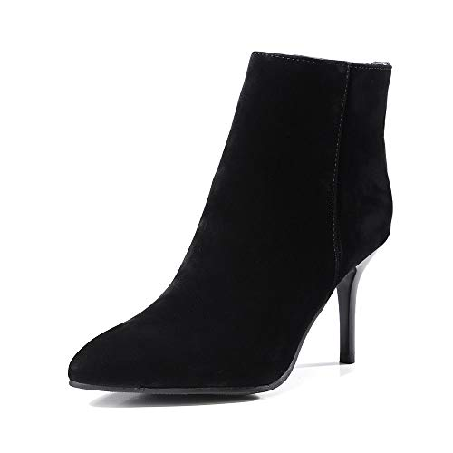 Classic Wedding School Booties Black Pointed Rivets Toe For Shoes