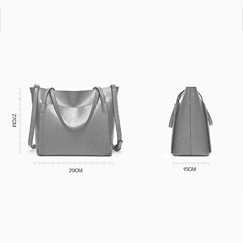 porte documents Sac couleurs Mesdames à grande ouverture Brown glissière et capacité Light à épaule Messenger main Bag quatre Mezzanine européenne américaine qqPg7US