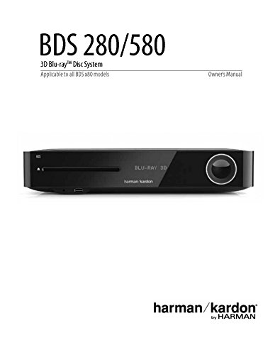 Price comparison product image Harman Kardon BDS580 Blu-ray Player Owners Instruction Manual