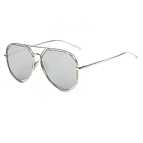 0-C Unisex Fashion Metal Sunglasses Polarized - Round Metal Rb3447 029