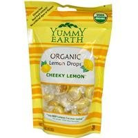 YumEarth Organics Variety Of Vitamin Pops, Drops and Snacks - The #1 Organic Candy in America (Cheeky Lemon Candy Drops - 3.3 Oz.) (Cheeky Lemon)