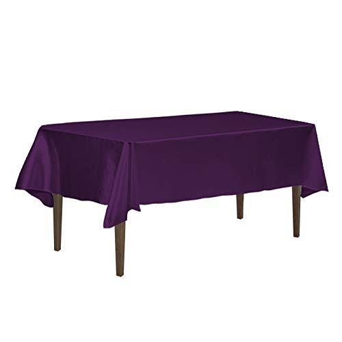 LinenTablecloth 60 x 126-Inch Rectangular Satin Tablecloth E