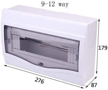 Aoyo Distribución eléctrica Box 2-4/5-8/9-12 Formas de Superficie montado en la Caja de protección del Interruptor automático Distribución (Color : White, Size : 180x350x90mm): Amazon.es: Hogar