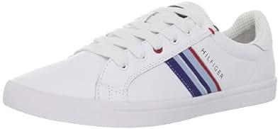 Tommy Hilfiger Men's Elvi Sneaker,White Multi Leather,7.5 M US
