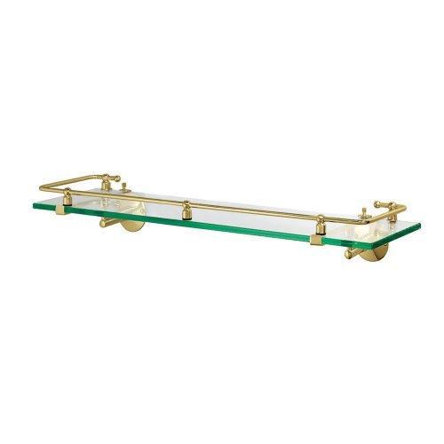 Gatco 1438 Glass Railing Shelf, Brass by Gatco