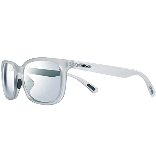 Revo RE 1050 Slater Polarized Wayfarer Sunglasses, Matte Crystal Stealth, 55 ()