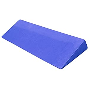 YogaAccessories Wide Foam Yoga Wedge Prop and Stretching Aid