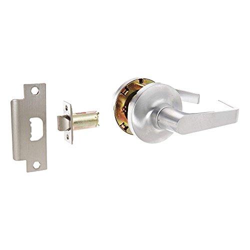 Arrow Lockset (Arrow Lock GL Series Grade 1 Satin Chromium Plated Passage Cylindrical Lever Lock, 1-3/8