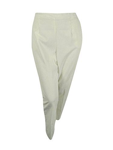 Elastic Waist Corduroy Pants - Alfred Dunner Plus Size Pants 20W Elastic Waist Corduroy Pant Ivory