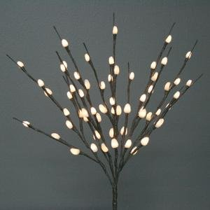 The Light Garden NPWL6020-B Battery Powered Natural Pussy Willow Accent, 60 LED Bulbs