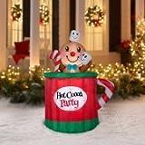 Holiday Time 5 Foot Animated Gingerbread Man Mug Inflatable