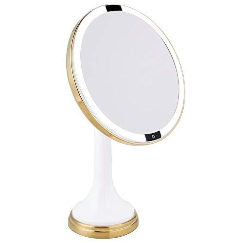 mDesign Modern Motion Sensor LED Lighted Makeup Bathroom Vanity Mirror, Large 8