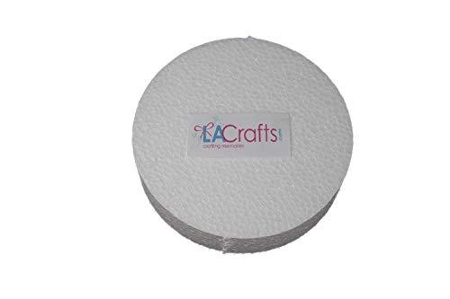 LA Crafts Brand 4x1 Inch Smooth Foam Craft Disc - 12 Pack]()