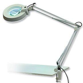Lámpara de mesa con lupa para manicura
