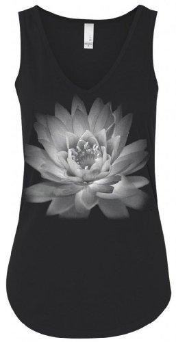 Yoga Clothing For You Ladies Lotus Flower Flowy Tank Top, Medium Black (Clothing Lotus Yoga)