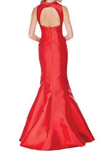 Satin Meerjungfrau Charmant Einfach Damen Figurbetont Weinrot Etuikleider Lang Ballkleider Abendkleider Partykleider YqCEHR