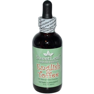 Sweet Leaf English Toffee Flavor Stevia Clear Liquid, 2 Ounce - 3 per case.