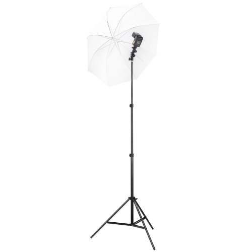Square Perfect 2808 Professional Quality Speedlite Swivel Flash Mount with Umbrella Bracket Light Stand