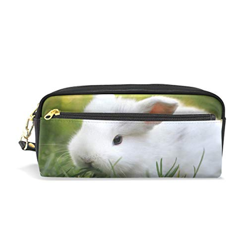 te Baby Rabbit Big Stationery Holder Cosmetic Bag with Zip Art Colored Pen Pouch for Kids Girls Boy (1 Pack) ()
