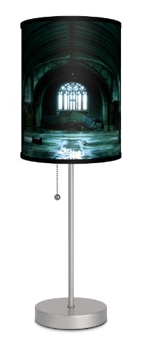Lamp-In-A-Box SPS-FAR-MLASL Featured Artists Miki Lansdowne Abandoned Soul Sport Lamp, 7″ x 7″ x 20″, Silver