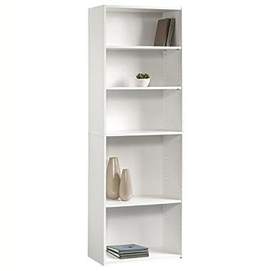 Sauder Beginnings 5-Shelf Bookcase, Soft White