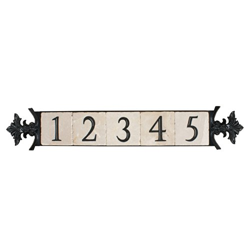 NACH KA-SMALL CREST-5 House Address/Number Sign Plaque