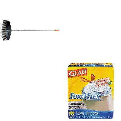 KITCOX70427FSK96605935J - Value Kit - Fiskars Leaf Rake (FSK96605935J) and Glad ForceFlex Tall-Kitchen Drawstring Bags (COX70427)