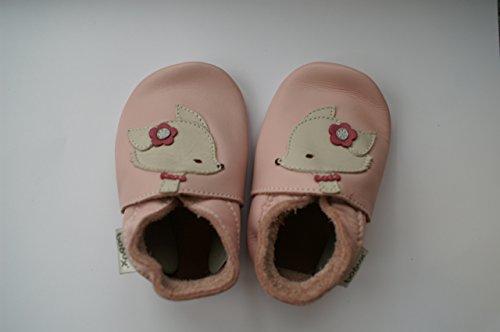 Bobux-Chaussons en cuir Soft soles renard rose (15-21 mois)