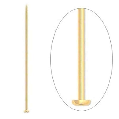 500 Wholesale Gold Plated Brass 4 Long 21 Gauge Headpins'' by Aveshop