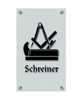 Schreiner Zeichen zunft schild handwerker zeichen edle acryl kunststoff platte mit