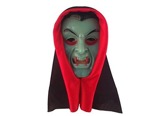 Yyanliii Divertente Maschera Horror Vampire Copricapo Maschera Zombie Spaventoso Per Halloween Party (Verde)