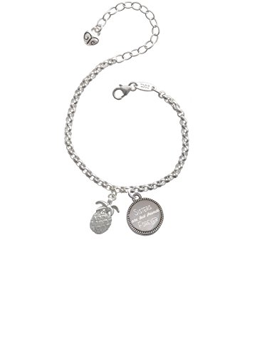 Delight Jewelry Pineapple Sisters are Best Friends Forever Engraved Bracelet