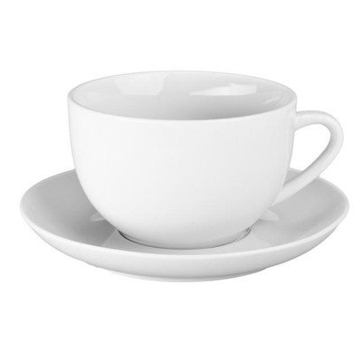 18 oz Jumbo Cup and Saucer, 2 cups and 2 Saucers (Jumbo Porcelain Cup)