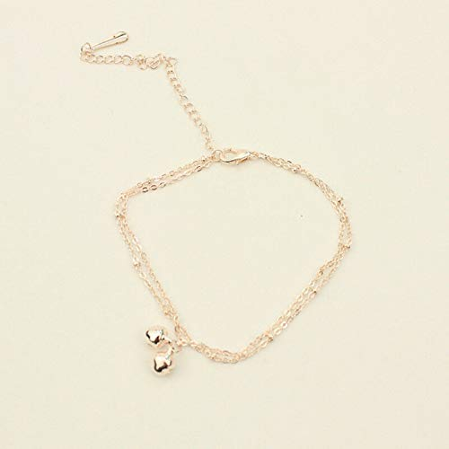 Trendy Foot Chain All-Match Original Small Bell Alloy Crystal Beach Anklet