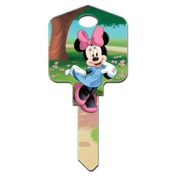 Minnie Mouse D83  Kwikset KW1 House Key Blank  Authentic Disney House Keys