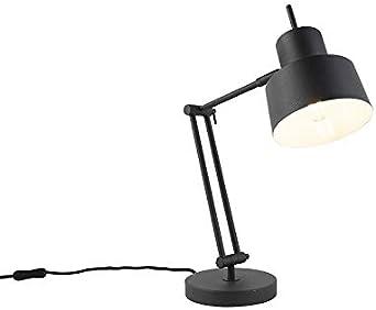 QAZQA Retro/Vintage Lámpara de mesa retro negra - CHAPPIE Acero ...